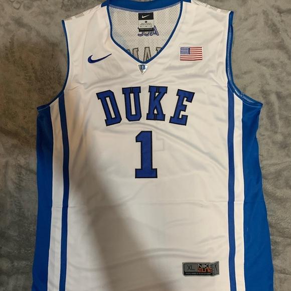 finest selection 597fd 075a0 Zion Williamson #1 Elite Duke Blue Devils Jersey NWT